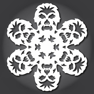 free templates for Star Wars Snow Flakes by Anthony Herrera www.thebrighterwriter.blogspot.com