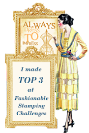 Top 3 at Fashionable Stamping Oct 2012