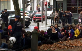 30 detenidos en Bruselas en las EuroMarchas2015