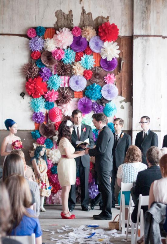 wedding backdrop, matrimonio alternativo