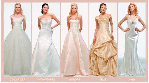 Vestidos das princesas Disney