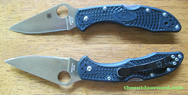 Spyderco Delica 4 FRN Pocket Knife: Mirror View