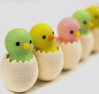 chick erasers at CoolPencilCase.com