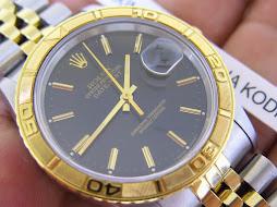 ROLEX TURN O GRAPH BLACK DIAL GOLD BEZEL TWO TONE - THUNDERBIRD - ROLEX 16263 SERIE X 1994 -FULLSET