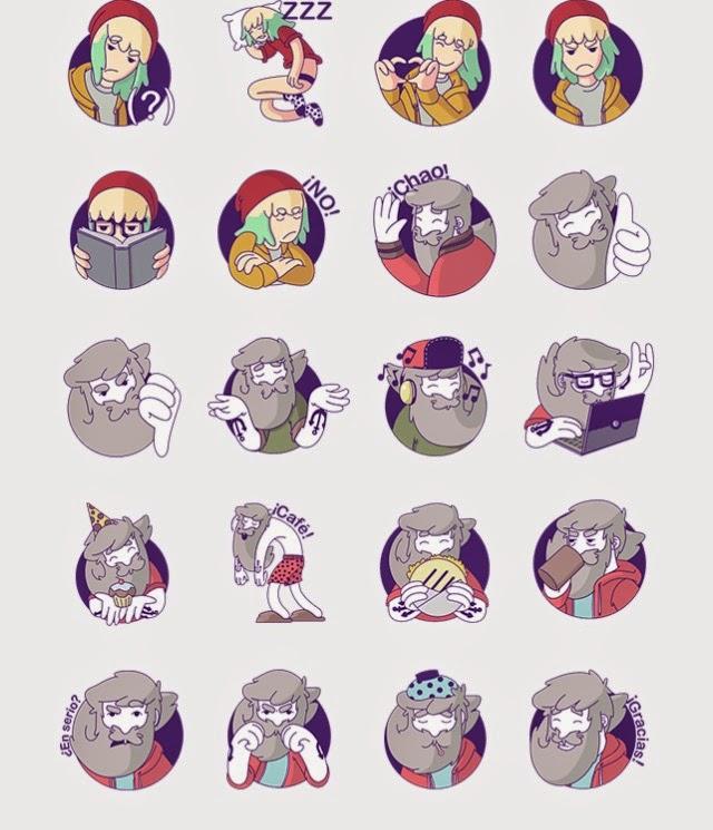 El Abuelo y Ree sticker