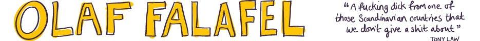 Olaf Falafel sweden's eighth funniest comedian
