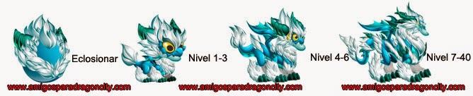 imagen del crecimiento del dragon ventisca mistica