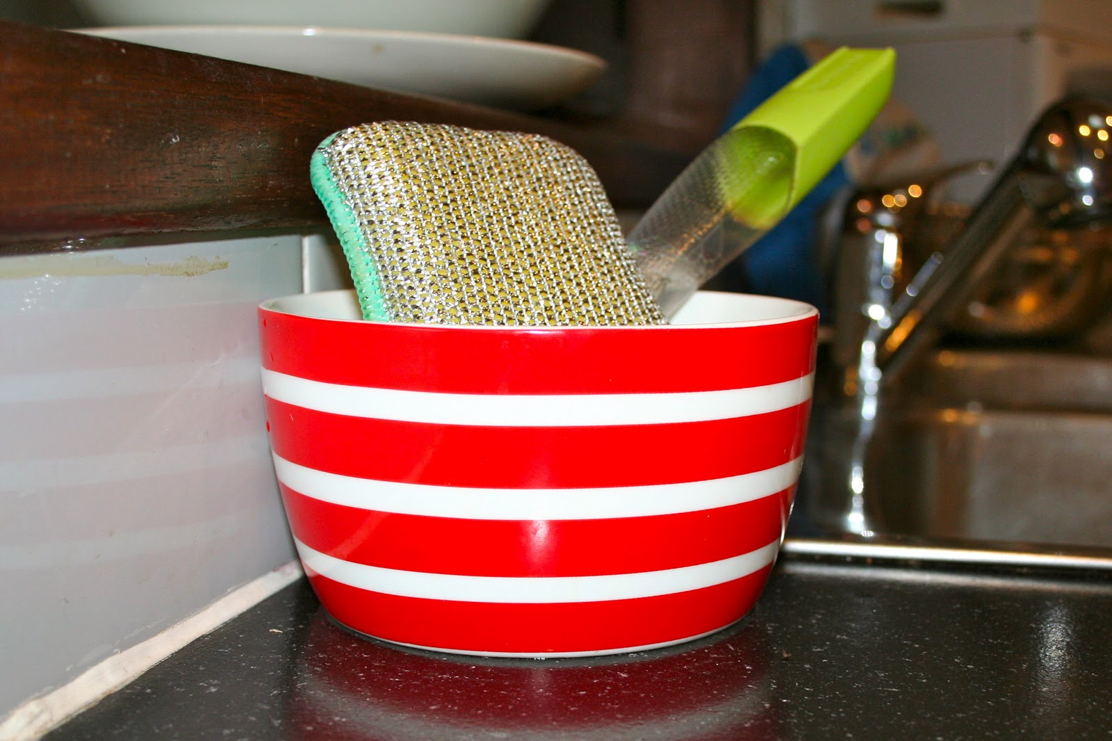 diy kitchen dish brush and sponge holder - Kitchen Sponge Holder