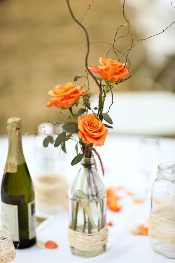 Fotos de centros mesa sencillos para boda