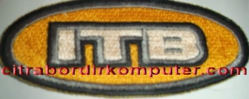 logo atribut bordir komputer ITB