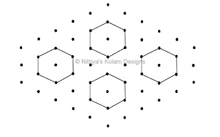 2 Kolam 87: Lines Kolam Interlocked dots 8 to 3