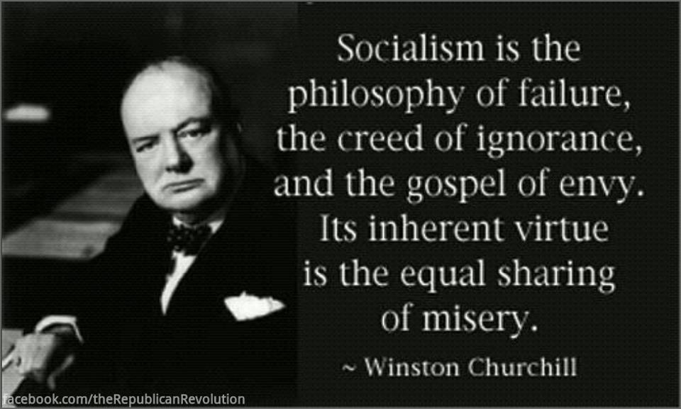 quotes from Winston Churchill on Socialism