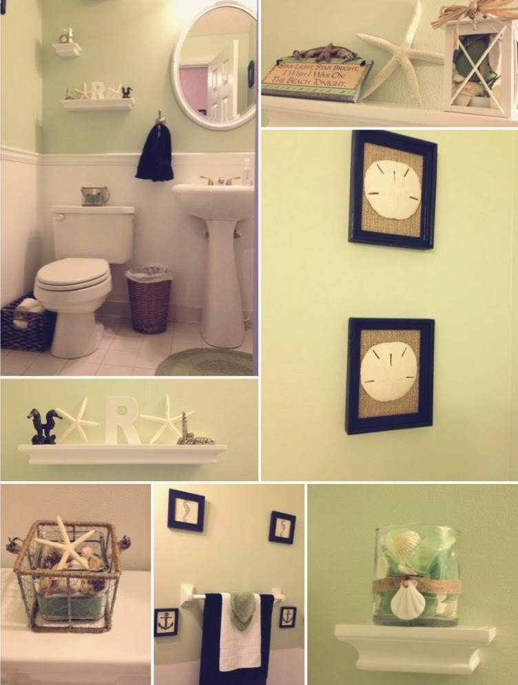 Coastal Makeover for Powder Room