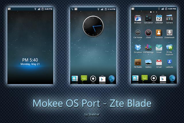 Mokee OS for  ZTE Blade