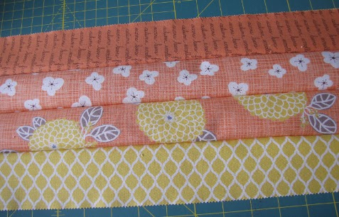 Four strips sewn in order