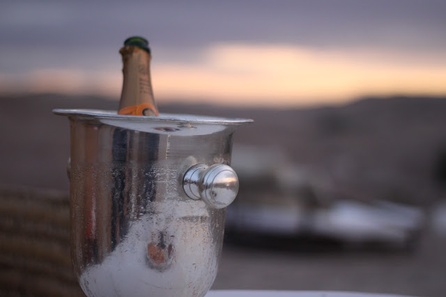 Veuve Cliquot at sunset in Marrakech