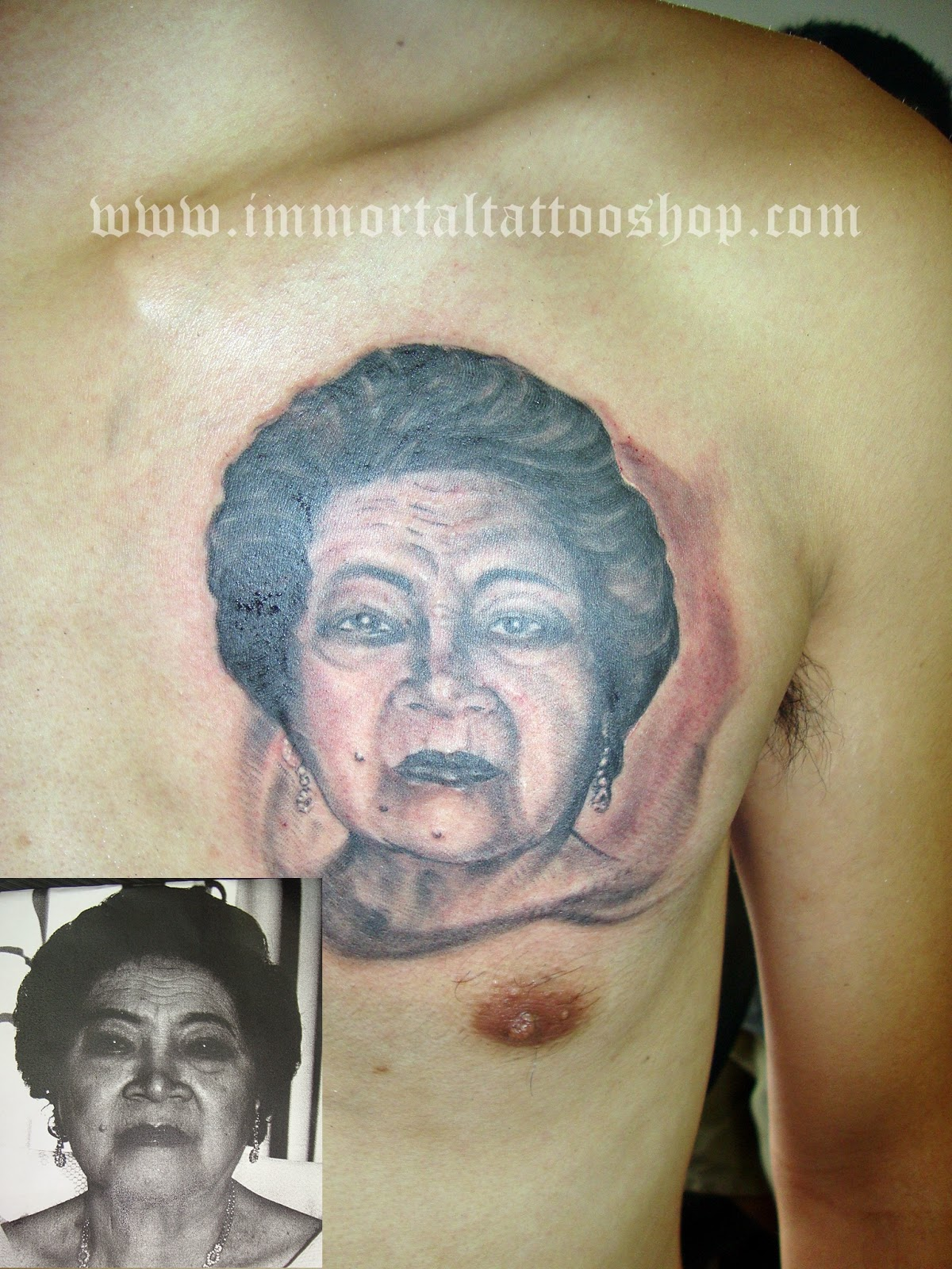 Immortal tattoo manila philippines by frank ibanez jr for Memory tattoo for grandma
