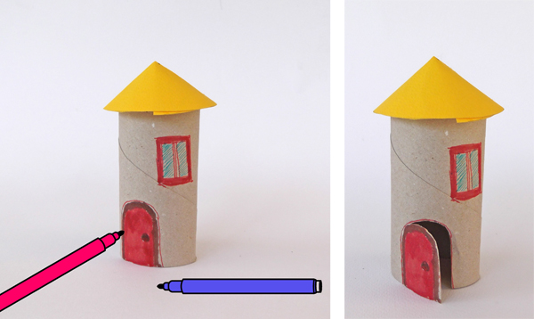 houses from toilet paper rolls, houses from paper rolls, toilet paper house, toilet roll house, roll house,
