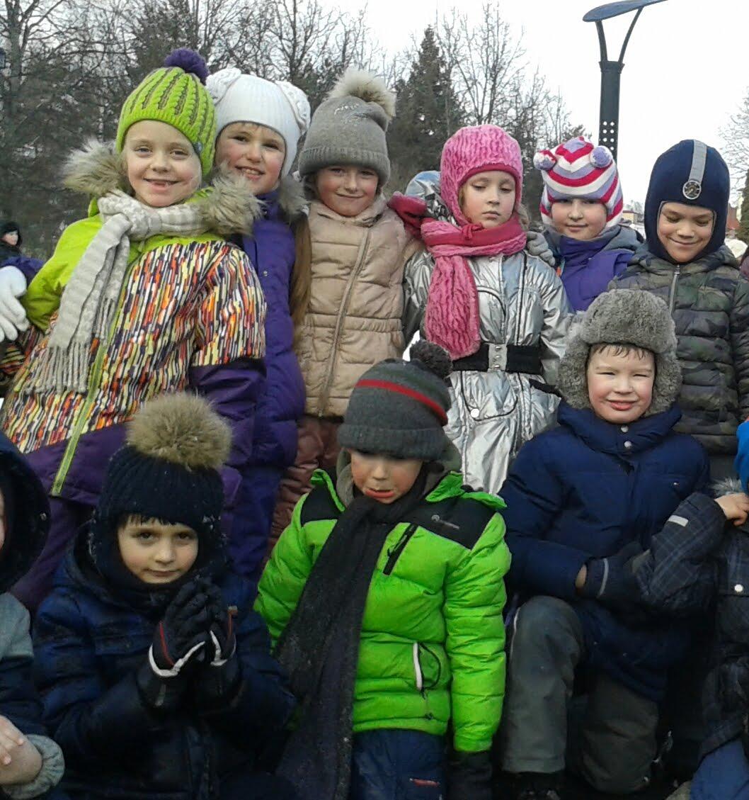 В зимнем лагере.