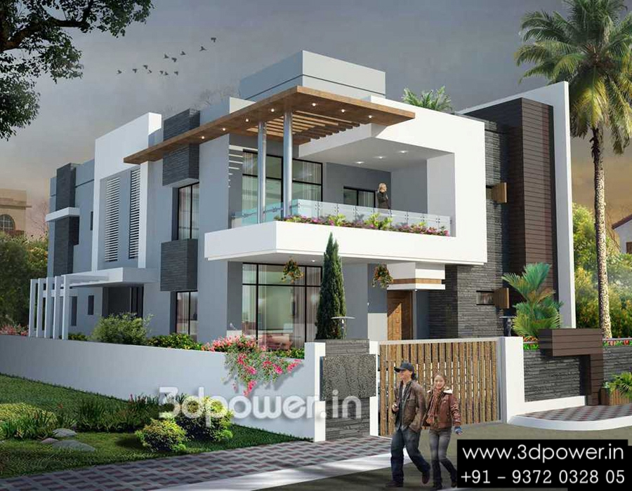 indian colonial houses bungalow 3d modern and bungalow - Small Bungalow Elevation