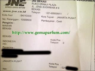Pengiriman Parfum ke Jakarta pusat