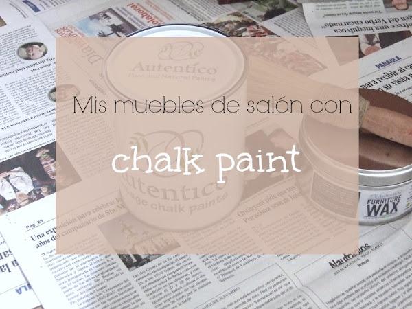 Pintar los muebles del salón con chalk paint