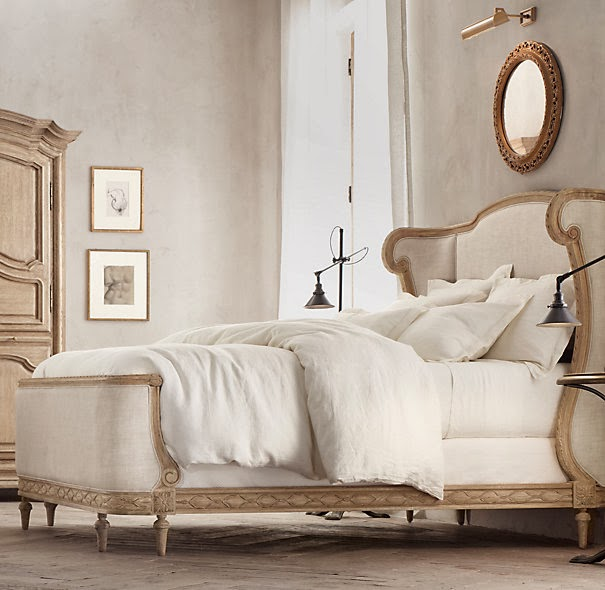 Restoration Hardware: Stonewashed Belgian Linen Bedding in White