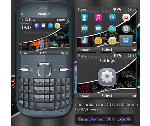 hi there are new themes for nokia c3 and x2 01 illumination for s40 ...