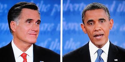 Mitt Romney and President in the Presidential Debate