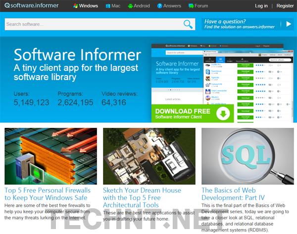 أربعة من أفضل المواقع لتحميل البرامج على الأنترنت - التقنية نت - technt.net