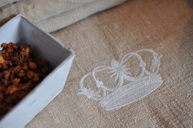 granola,torchons en chanvre;couronne