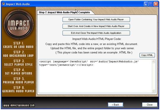 IMPACT WEBAUDIO audio no site