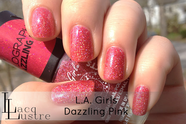 L.A. Girls Dazzling Pink swatch