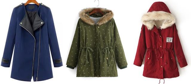 Ciepłe kurtki i płaszczyki na zimę :)