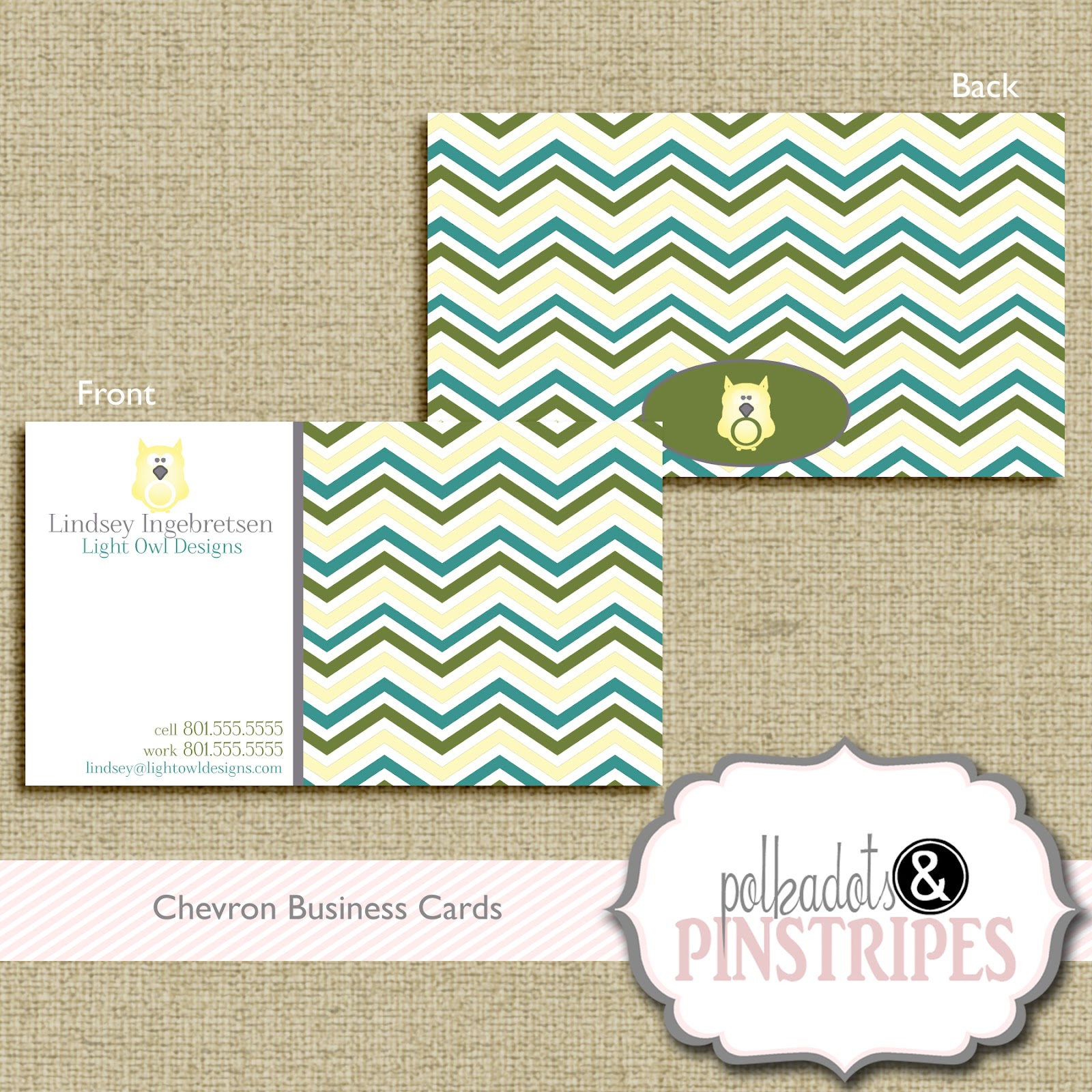 Polka dots n pinstripes business cards chevron business card 1000 colourmoves