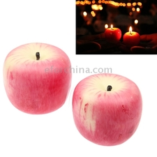 Romantic Apple Shaped Candle for Party Christmas Gift