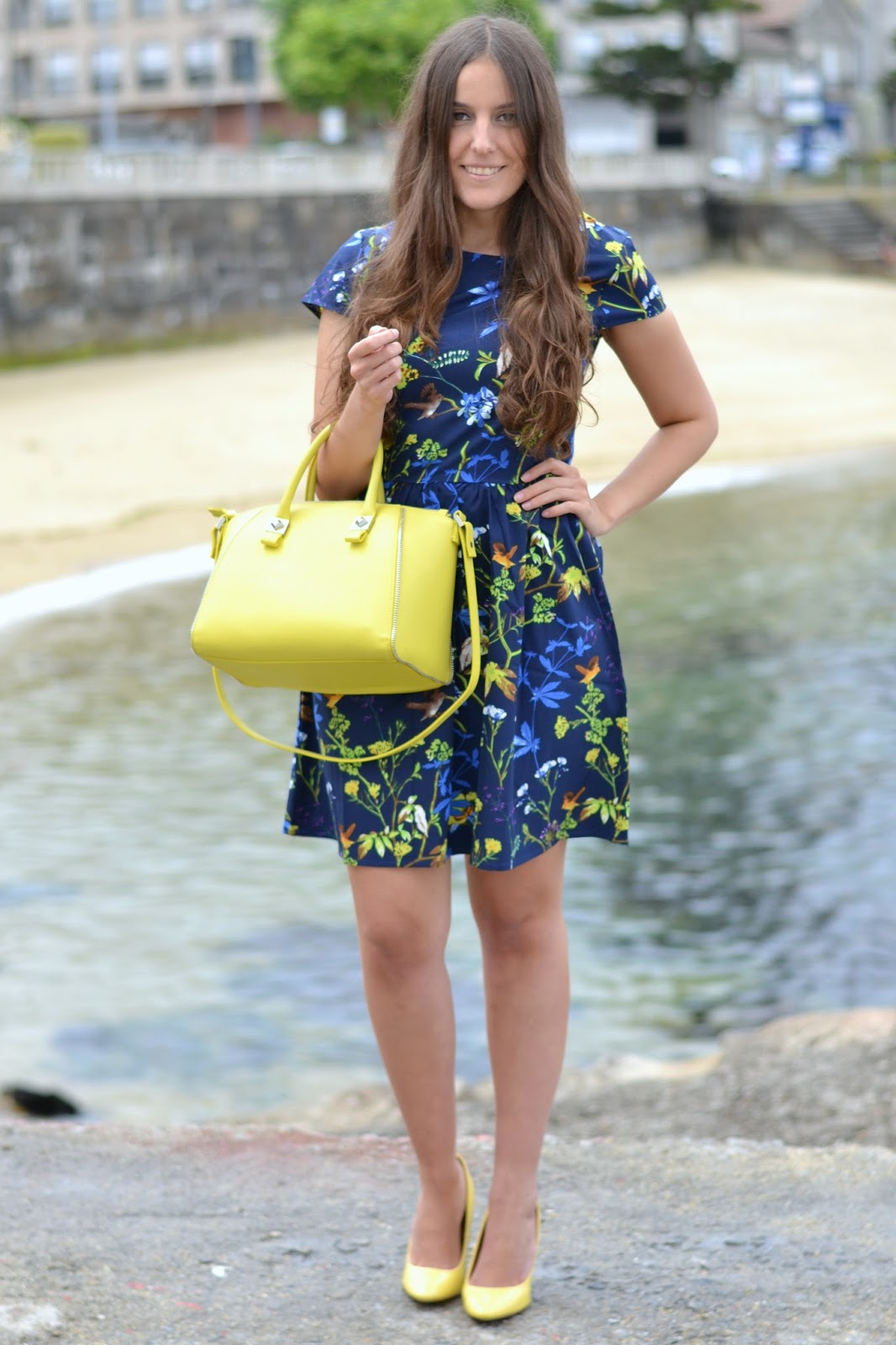 outfits zara yellow heels