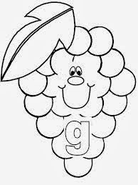 printable alphabet coloring pages grapes