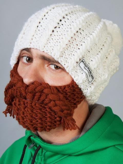 Знаменитый бренд RareHead производит шапки с бородой, в которых не замерзнешь и не соскучишься