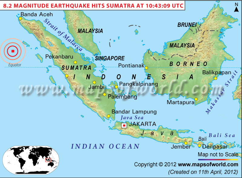 Geology in motion m61 earthquake strikes indonesias aceh province map of indonesia the red square near jakarta shows the location of the 2012 m82 aftershock from this site todays m61 quake was at about 100 to the ne gumiabroncs