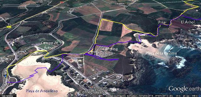 Mapa 2 -  Senda Costera de Tapia de Casariego a La Playa de Peñarronda