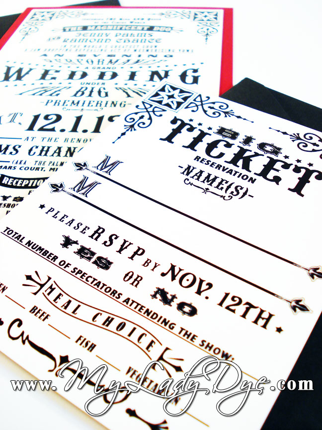 My Lady Dye - Handcrafted Stationery: Vintage Circus Wedding ...
