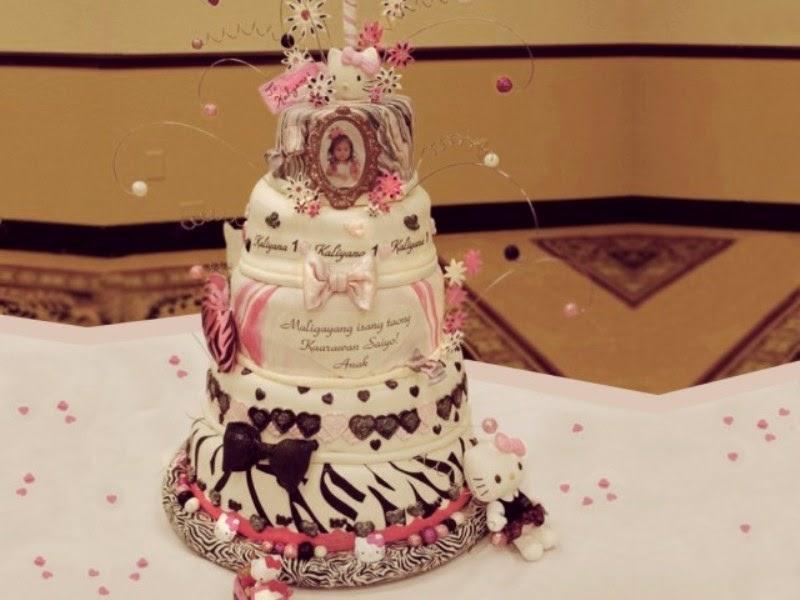 Gambar kue ulang tahun tingkat lucu banget untuk anak