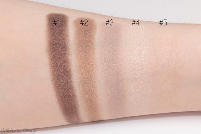 Yves Saint Laurent Saharienne 4 Eyeshadow Couture Palette 5 Color Ready To Wear brush swatches in studio lighting with forced flash