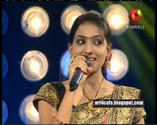 tv kairali tv gandharva sangeetham 2013 anchor cute images kairali tv