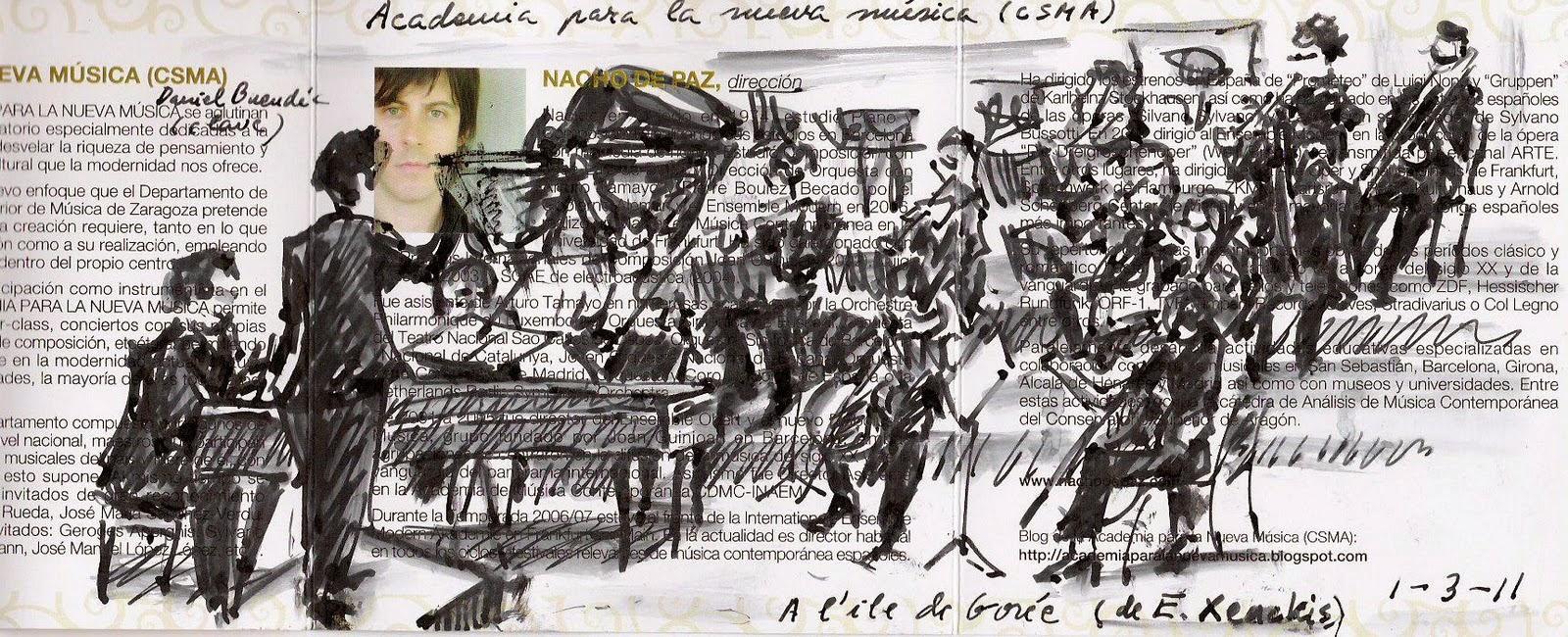 Santiago Ríos. Dibujo sobre programa