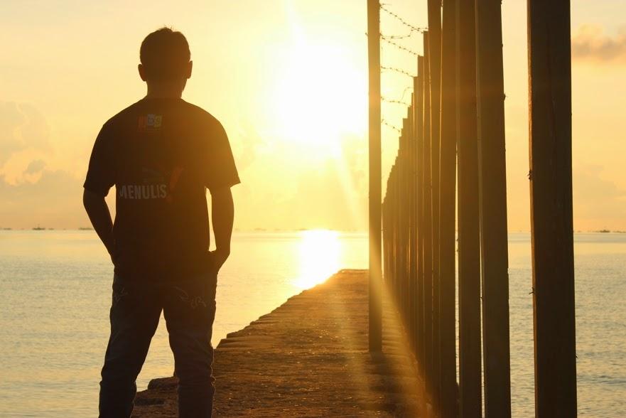 sunrise di pantai sarang tiung kotabaru