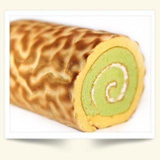 kue Pandan Tiger Roll Cake