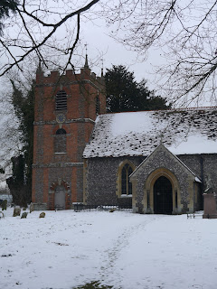 Church on the Thames Path near Moulsford in January