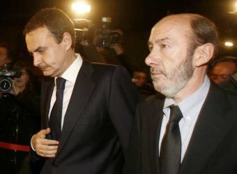 España - Posibles Elecciones Anticipadas Zapatero_Rubalcaba_llegada_Mondragon